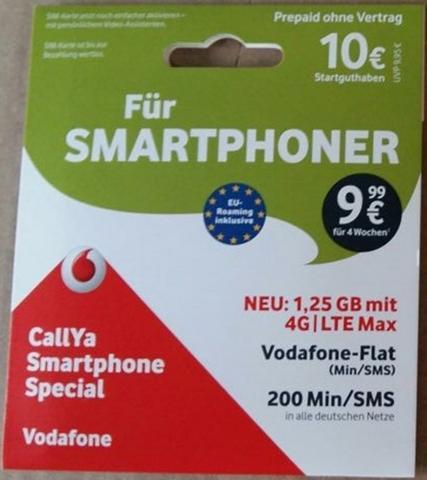 VODAFONE Call Ya-Karte »Smartphone Special 10? ...