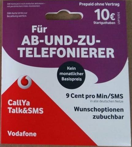 VODAFONE Call Ya-Prepaid-Karte »Talk&SMS su 10 ...