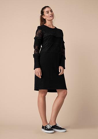 TRIANGLE Suknelė su nėrinių ir klostės