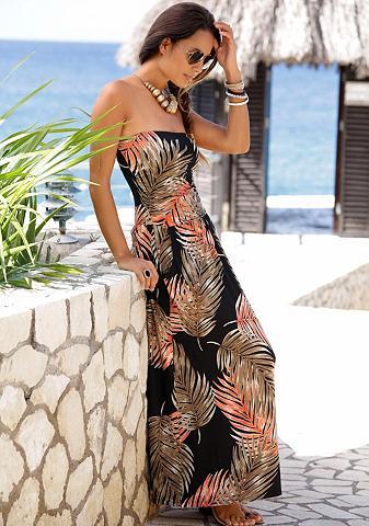 LASCANA Ilga suknelė su Palmen-Alloverprint
