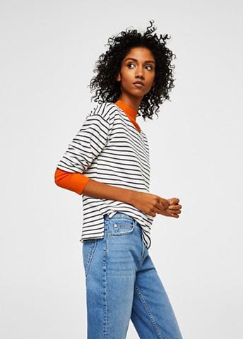 MANGO Strukturiertes Streifen-Sweatshirt