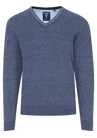 HAJO Megztinis su V formos iškirpte Jeans-L...