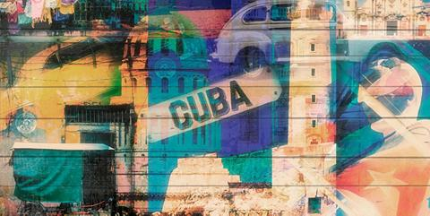 QUEENCE Paveikslas »Welcome to Cuba« 40x80 cm ...
