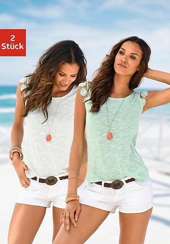 VIVANCE Marškinėliai be rankovių (2 vienetai) ...