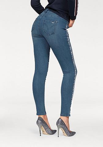 Arizona Skinny-fit-Jeans »Seitennaht su silber...