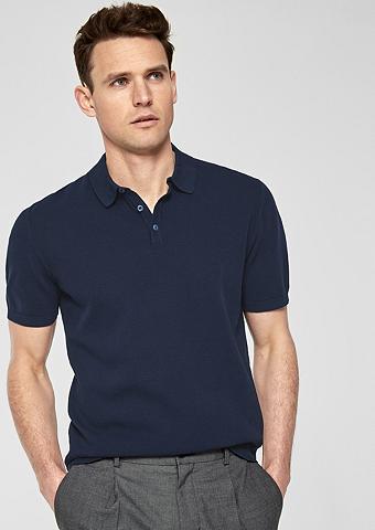 S.OLIVER BLACK LABEL Polo marškinėliai iš Feinstrick