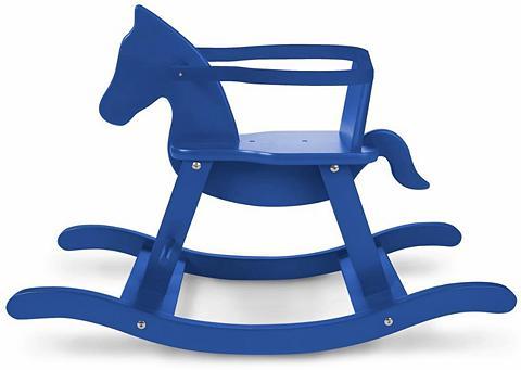 PINOLINO Supamas arkliukas iš mediena blau