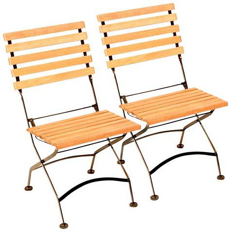 MERXX Poilsio kėdė (2 vnt. rinkinys) Eukalyp...