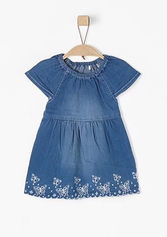 S.OLIVER RED LABEL JUNIOR Džinsinė suknelė su Butterfly-Stitchin...