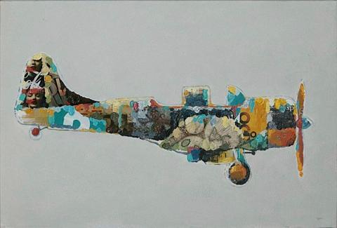 Aliejinis paveikslas »Flugzeug«