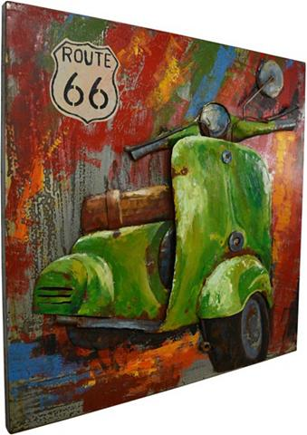 Paveikslas »Metall Motorroller« 80cm x...