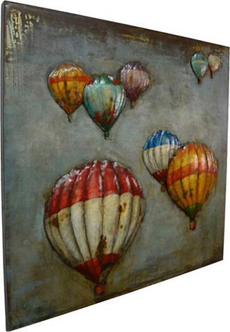 Paveikslas »Metall Heißluftballons« 80...