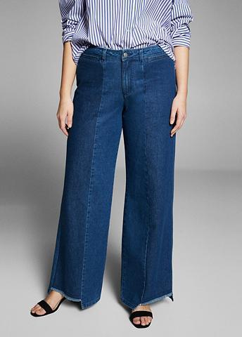 VIOLETA BY MANGO Wide-Leg-Jeans Panele