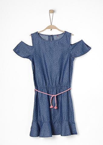 S.OLIVER RED LABEL JUNIOR Apnuogintais pečiais Džinsinė suknelė ...