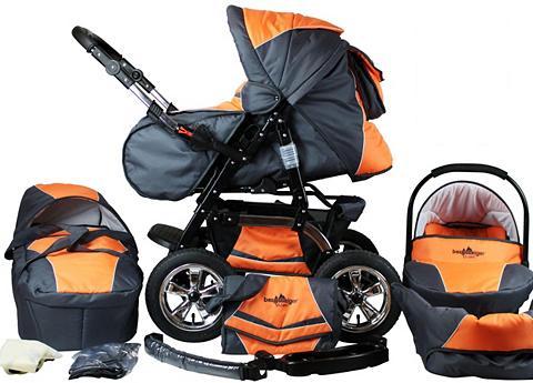 bergsteiger Kombi-Kinderwagen »Milano orange & gre...
