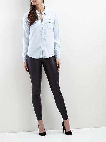 VILA Vibista - džinsiniai marškinėliai