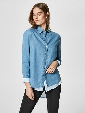 SELECTED FEMME Lässiges džinsiniai marškinėliai