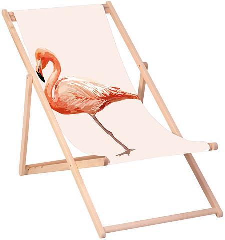 QUEENCE Paplūdimio kėdė »Flamingo« 120 x 60 cm...