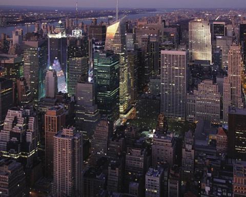 RASCH Tapetai »Sightseeing City at Night« Mo...