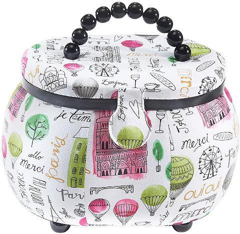 HOME AFFAIRE Krepšys siūvimo reikmėms oval iš plast...