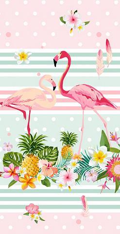 GOOD MORNING Paplūdimio rankšluostis »Flamingo«