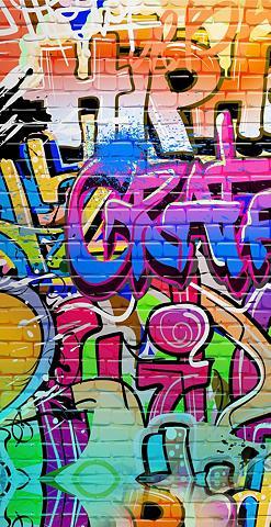 GOOD MORNING Paplūdimio rankšluostis »Graffiti«