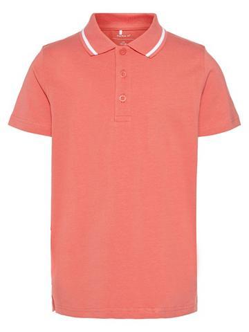 NAME IT Vienspalvis Polo marškinėliai