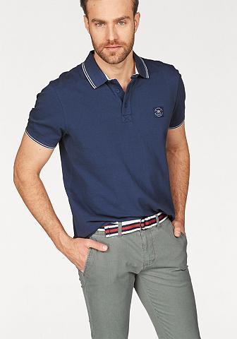 TOM TAILOR Polo Team Polo marškinėliai su Markenlabel