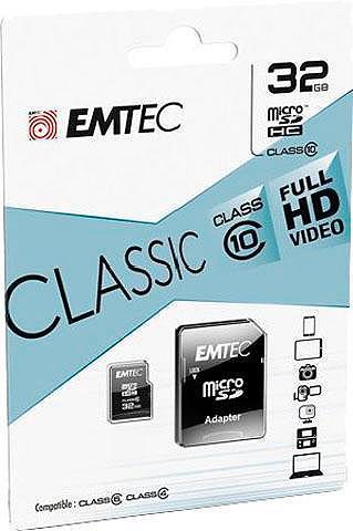 EMTEC Micro SDHC 32GB Class 10 Classic su SD...