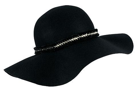 COLLEZIONE ALESSANDRO Skrybėlė su madingas papuošalas