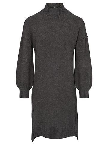 heine CASUAL Megzta suknelė su apykaklė