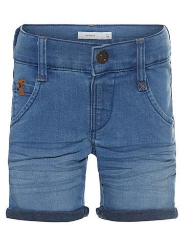 NAME IT Regular forma ilgas džinsiniai šortai