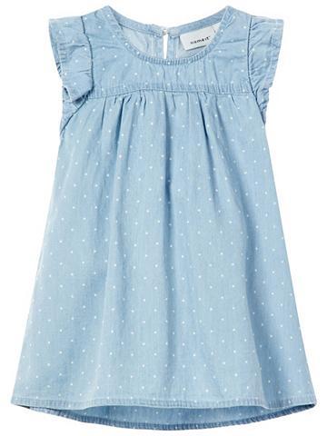 NAME IT Taškuotas džinsinė suknelė