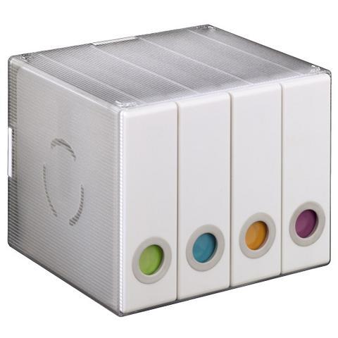 HAMA CD-/DVD-/ dėžutė 96 Transparent/Weiß