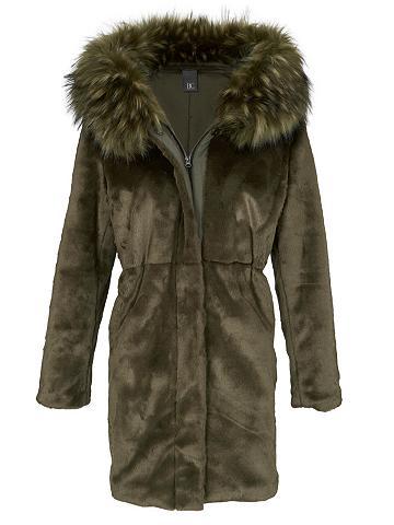 heine CASUAL Vilnonis paltas su gobtuvas