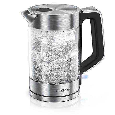 Arendo Edelstahl Glas Wasserkocher 17 Liter 2...