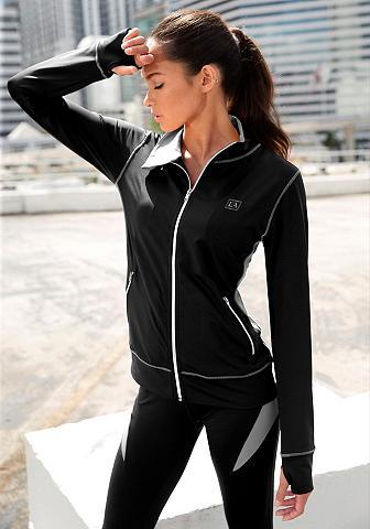 ACTIVE BY LASCANA Zipper-Jacke in juoda spalva su Kontra...