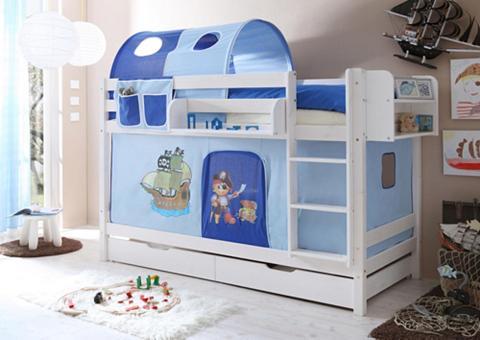 Ticaa Dviaukštė lova »Marcel« su Textil-Set ...