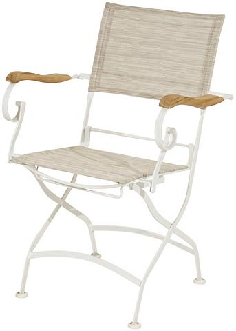 PLOSS Poilsio kėdė »Rom« Textil/Eisen/Teak k...
