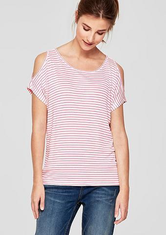 S.OLIVER RED LABEL Dryžuoti marškinėliai su Cut-Outs