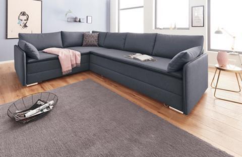 INOSIGN Kampinė sofa su spyruoklės su miegojim...