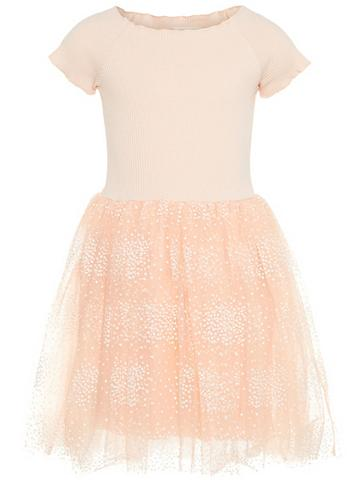 NAME IT Taškuotas Tiulio suknelė