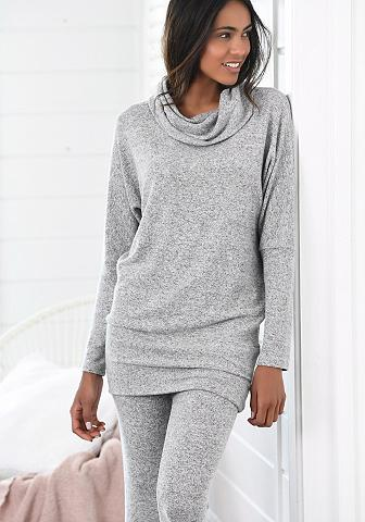 LASCANA Long poilsio megztinis su platus apyka...