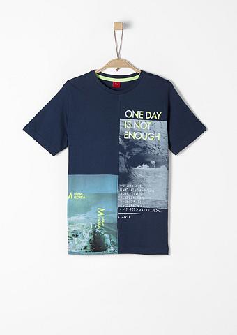 S.OLIVER RED LABEL JUNIOR Marškinėliai su Fotoprint ir Wording d...