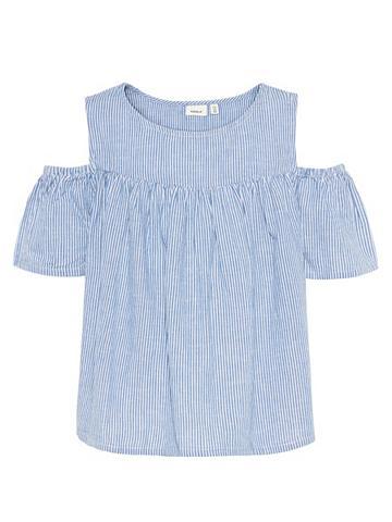 NAME IT Dryžuota linas Marškiniai