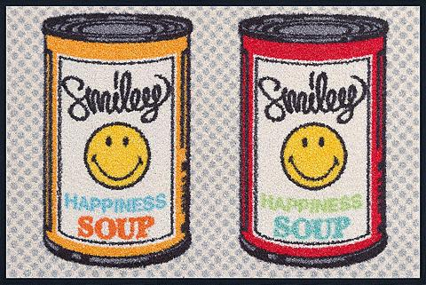 WASH+DRY BY KLEEN-TEX Durų kilimėlis »Smiley Happiness Soup«...