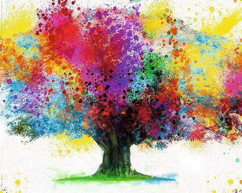 INOSIGN Deco Block »Coloured Tree«