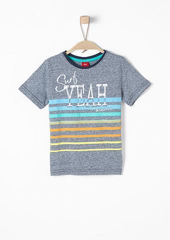 S.OLIVER RED LABEL JUNIOR Tamsi Printmix-Shirt dėl Jungen