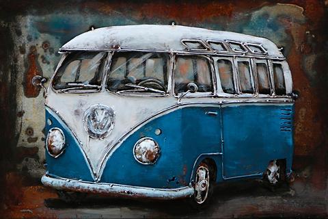 THE WOOD TIMES 3D-Paveikslas »Bus blau«