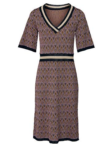 heine STYLE Megzta suknelė su trumpomis rankovėmis...